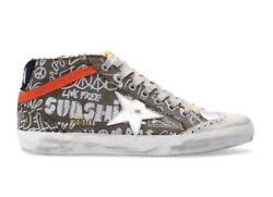Golden Goose Mid Star Men's Sneakers suede white leather Sz 41 US 8 $299.00