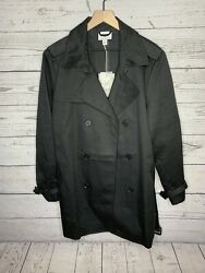 Phillip Lim For Target Mens Black Button Trench Coat Jacket Size Medium NWT $79.99