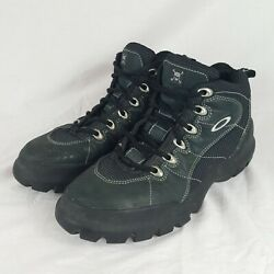 OAKLEY Men#x27;s Nail 2.0 Mid Top Lace Up Boots Size 11 Black Hiking Outdoors $149.99