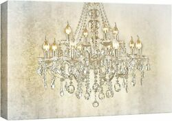 Chandelier on Vintage Background Canvas Art Wall Art 32x48 inches $15.03