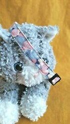 Cat Collar Handmade Shades of Pinks amp; Blues... Cute As A Button... Literally $6.25