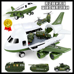 Airplane Toy helicopter tank Army Military Vehicles Kids Toddlers Boys 3 4 5 6 7 $49.35
