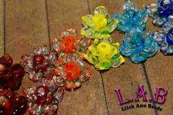 2pc Large 20mm Handcrafted Fine Murano Lampwork Glass Flower Beads LW272 $3.99