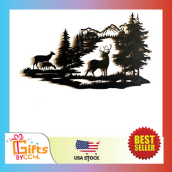 Deer Wall Art Cabin Wall Décor Forest Hanging Living Dining Bedroom NEW $59.99