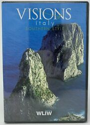 Visions of Italy Southern Style DVD PBS WLIW Helicopter Camera Scenery NEW $5.19