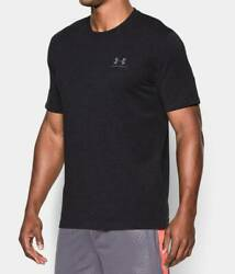 NEW MENS XL BLACK UA UNDER ARMOUR CHARGED COTTON T SHIRT SHORT SLEEVE 1257616 $24.95