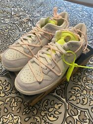 Deadstock Off White x Nike Dunk Low Lot 12 of 50 DJ0950 10 Size 12 $439.99
