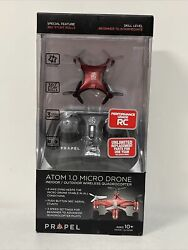 NEW Atom 1.0 Micro Drone Indoor Outdoor Wireless Quadrocopter RED $17.00