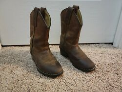 Boys size 9 Cowboy Boots Brown Leather $8.00