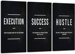 Motivational Posters Inspirational Wall Art Canvas Paintings Ability Motivation $50.25