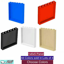 LEGO 1x6x5 Panel Wall Building Glass Hollow studs Blue Red Black Tan New $4.89