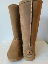 BEARPAW Women#x27;s tall Cold Weather Waterproof Boot Size 8 Wide brown $20.00