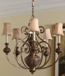 5quot; Classic Bell Gold Shantung Chandelier Shades w Trim Clip On Set of 5 $9.99