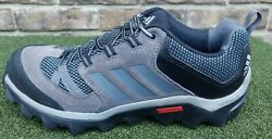 Adidas Mens Trekking Trail Shoes Outdoor Hiking Suede Sneakers Gray Black Sz 9.5 $29.99