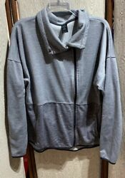Women#x27;s Champion Two Tone Gray Full Zip Jacket Size XL TOP EUC MUST SEE $12.00