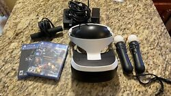 Sony Playstation VR Headset With Controllers And Game $249.99