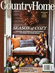 COUNTRY HOME FALL 2021 garden journal style cottage flea decor market $7.99