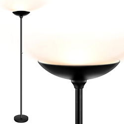 Torchiere Floor Lamp LED Floor lamps 24W 2400LM Super Bright Lamp Stepless $70.87