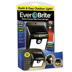 EverBrite Motion Activated Solar LED Outdoor Light NEW