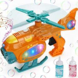Bubble Gun Machine for Toddler 2000 Bubbles Helicopter with Light Music Kid Toy $14.97