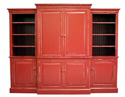 Sea Island Wall Unit ENTERTAINMENT CENTER Coastal Cottage 40 Colors Door Styles