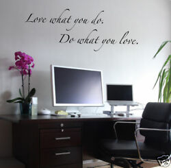 Wall Decals Quote Love what you do Wall letters $14.00
