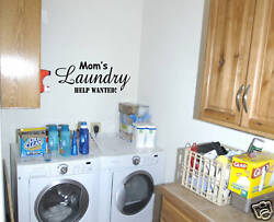 Wall Decals Quote Mom#x27;s Laundry 36quot; Wall letters $16.00
