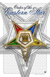 ORDER of the EASTERN STAR 11quot; x17quot; Art Print $13.00