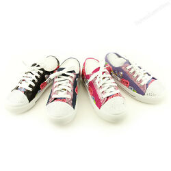 Girls Canvas Shoes New Kids Fashion Childrens Flats Junior Sneakers Sz $9.99