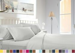 1800 COUNT DEEP POCKET 4 PIECE BED SHEET SET - 26 COLORS AND ALL SIZES AVAILABLE $22.59