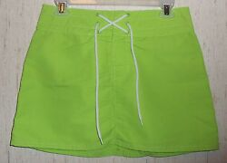 EXCELLENT WOMENS GAP BRIGHT GREEN SWIMSUIT COVERUP SKIRT SIZE S $24.95