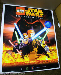 STAR WARS LEGO VIDEO GAME ACETATE LIGHTBOX FIXTURE STORE DISPLAY FROM TOYS R US