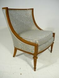 Mid 20th Century Empire Style Wing Back Lounge Chair Dorothy Draper Era