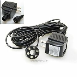 Underwater 6 LED Light Ring For Fountain Fish Pond Water Garden with Transformer $15.98