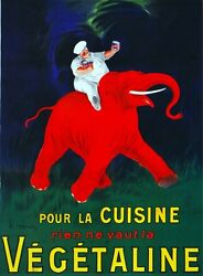 2777.Chef Riding a Red Elephant POSTER.French.Home Kitchen Wall art Decoration $32.00