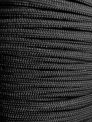 Black 550 Paracord Mil Spec Type III 7 strand parachute cord 10 25 50 100 ft $5.49