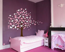 Large Wall Tree Baby Nursery Decal Butterfly Cherry Blossom Sticker Kids Flower $39.99