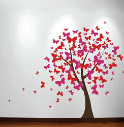 Large Wall Tree Baby Nursery Decal Butterfly Cherry Blossom Sticker Girl Flower $39.99
