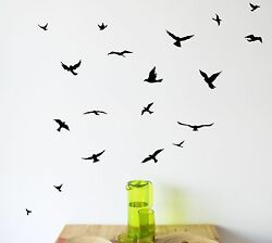 Flock of Birds Wall Decal Set removable stickers wall decor art mural nature $7.94