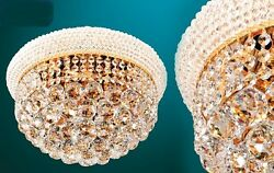 Flush Mount Crystal Ceiling Chandeliers
