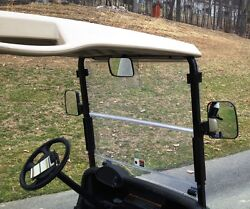 3PC XL Golf Cart Side and Rear View Mirror Set Univ for Club Car EZ GO Yamaha $32.00