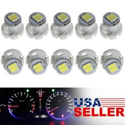 10Pcs White LED T3 Neo Wedge SMD LED Dash Climate Gauge Light Bulbs 8mm $10.65
