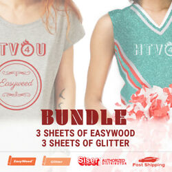 Siser Bundle 3 Sheets 15 x 12 of EasyWeed amp; 3 Sheets 20 x 12 of Glitter $22.26