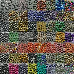 Natural Gemstone Round Spacer Beads 4mm 6mm 8mm 10mm 12mm Wholesale Assorted $0.99