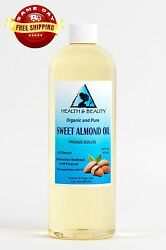 SWEET ALMOND OIL ORGANIC CARRIER COLD PRESSED REFINED 100% PURE 16 OZ $13.49