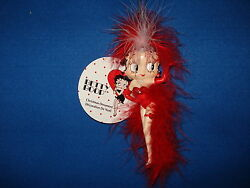 Betty Boop Ornament with Red Feather Costume 2122 64 $16.50