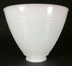 NEW White Opal Milk Glass 6quot; Floor Table Oil Lamp IES Reflector Waffle Shade $24.95