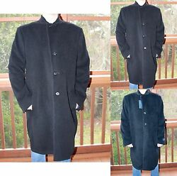 *NWT* Men's Hathaway Platinum Long Italian Wool & Cashmere Top Coat-Over Coat