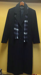 WOMENS SIZE 6 KRISTEN BLAKE CASHMERE DRESS COAT WITH SCARF AND GLOVES