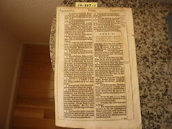 """(Bible Leaf) Leaf from the King James """"She"""" Bible printed in 1613.    #14-337"""
